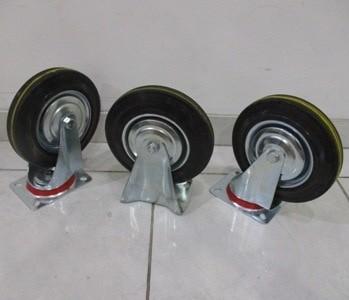 harga Xp tool roda karet 8 inch/roda trolley/roda gerobak hidup mati Tokopedia.com