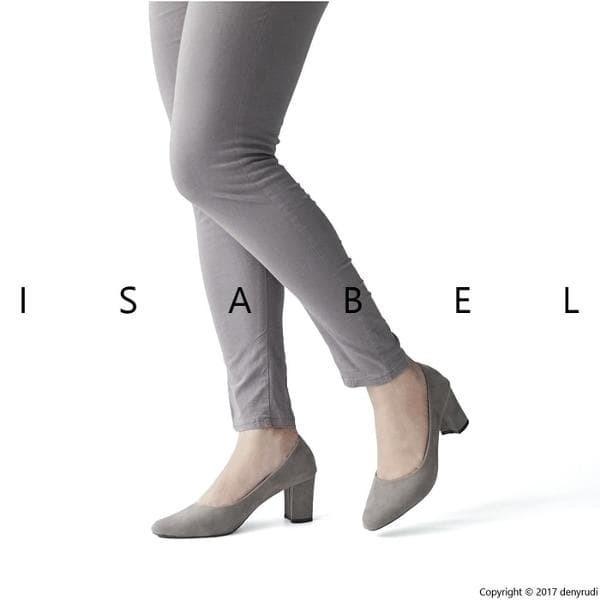 harga Jual isabel sepatu pantofel kerja wanita charlotte pump heels abu Tokopedia.com