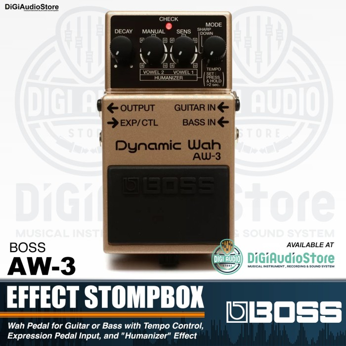 harga Boss aw-3 dynamic wah pedal effect stompbox guitar & bass - gitar efek Tokopedia.com