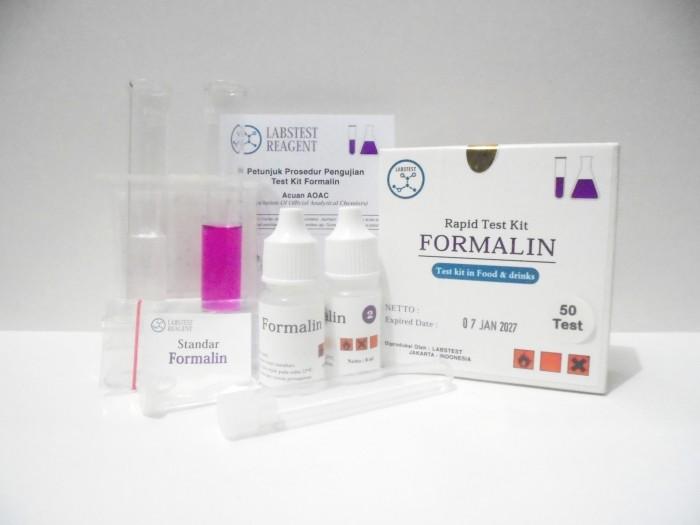 Foto Produk Test Kit Formaldehyde, Alat Uji Cepat Pengawet Makanan Formaldehida dari Labs Test Kit