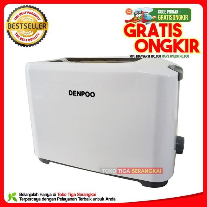 (Sale) Denpoo Toaster Panggangan Roti DT-023D (New Model) -Putih