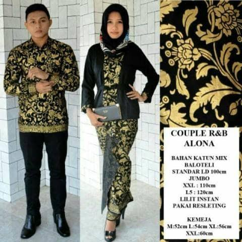 Jual Baju Batik Sarimbit Couple Kemeja Prada Lengan Panjang Fashion df74aa567c