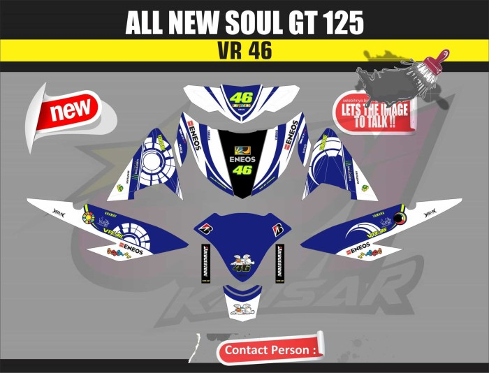 harga Sticker striping motor / aksesoris motor all new soul gt 125 biru 46 Tokopedia.com