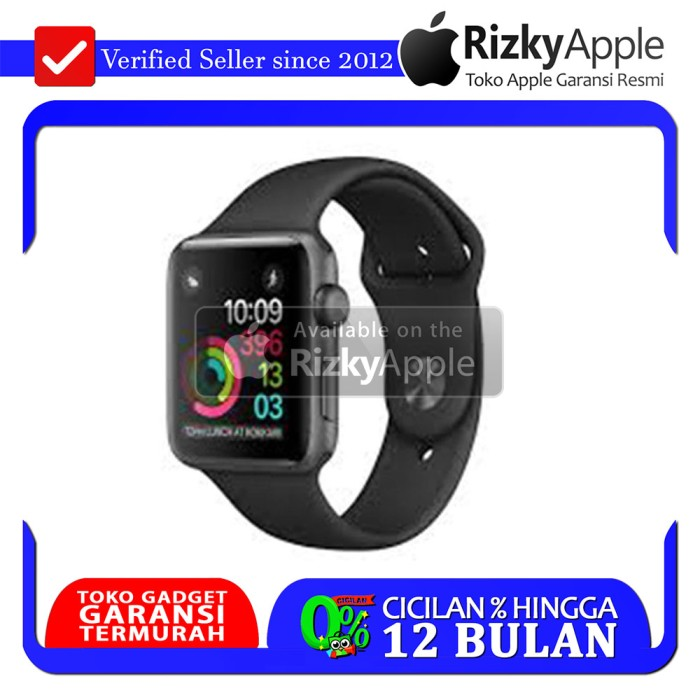 Apple Watch Series 2 Aluminum Black + Black Sport Band 42MM