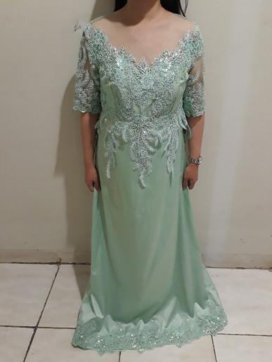 Jual Sewa Gaun Pesta Mama Pengantin Hijau Tosca Mint Jakarta Timur Nicoletta Tokopedia