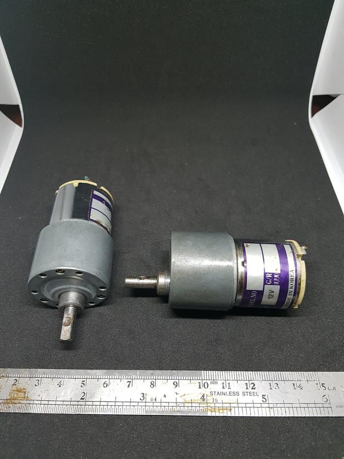 Foto Produk 1 pasang motor DC gearbox grey, 12VDC, merk Chun Jo Korea, 2 unit. dari UAV