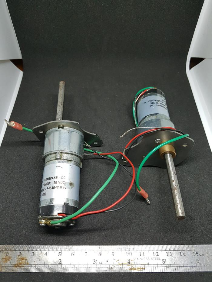 Foto Produk 1 pasang motor DC plus gearbox, 20VDC, pitney bowes, jumlah 2 unit. dari UAV