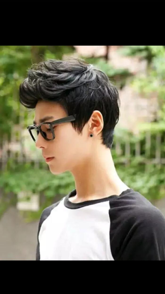 Info Harga Wig wik Cowok Pria Laki2 Rambut Palsu Korea Keren Mirip ... 56202d261d