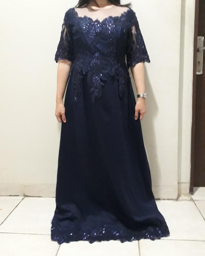 Jual Sewa Gaun Pesta Mama Pengantin Navy Blue Dki Jakarta