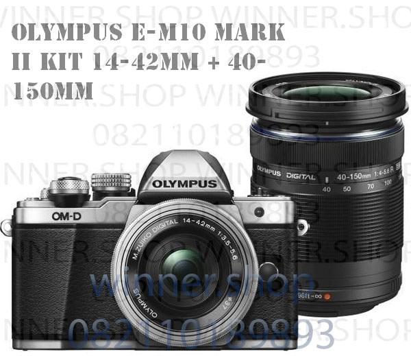 harga Kamera olympus e-m10 mark ii dobble lens kit 14-42mm + 40-150mm Tokopedia.com