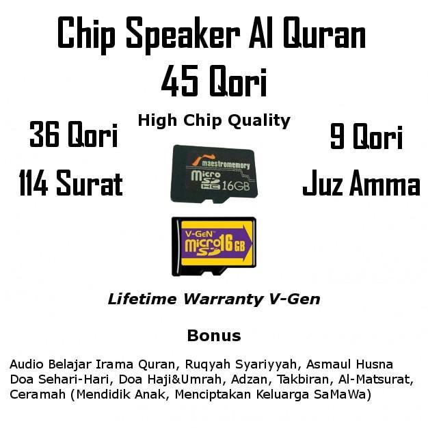Chip Speaker Murottal Al Quran 45 Qori Terlengkap