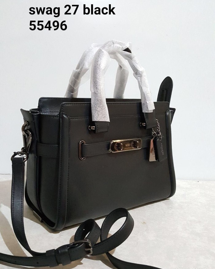 Jual Tas Coach Original - Coach swagger 27 black glovetanned leather ... dc031c52aa