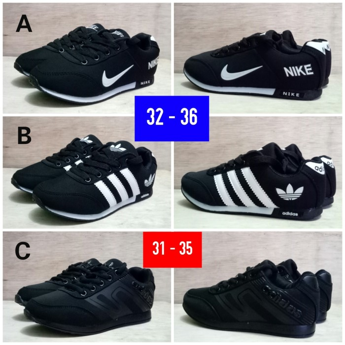 harga Sepatu sekolah anak nike md runner adidas neo kids Tokopedia.com