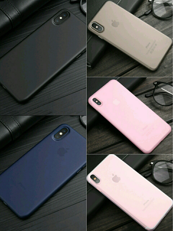 Foto Produk PREMIUM Cafele ORIGINAL Case Ultra Thin Super Slim for IPhone X - Abu-abu Muda dari Black_ID