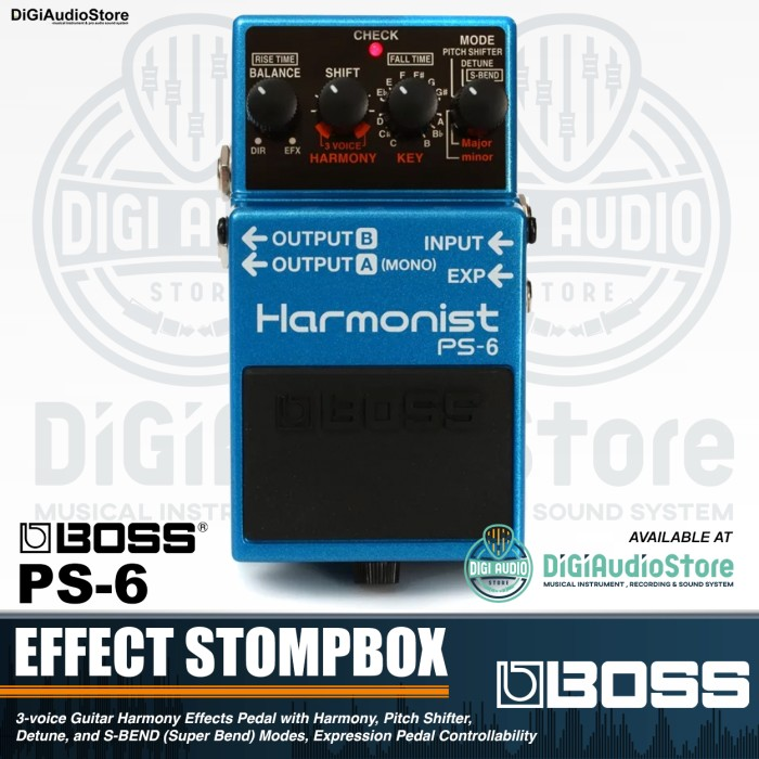 harga Boss ps-6 harmonist pedal effect stompbox guitar - gitar efek ps6 ps 6 Tokopedia.com
