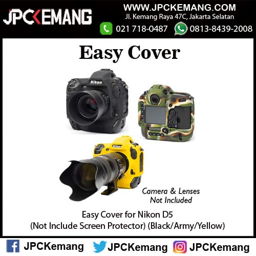 Foto Produk Easy Cover for Nikon D5 (Black/Army/Yellow) dari JPCKemang