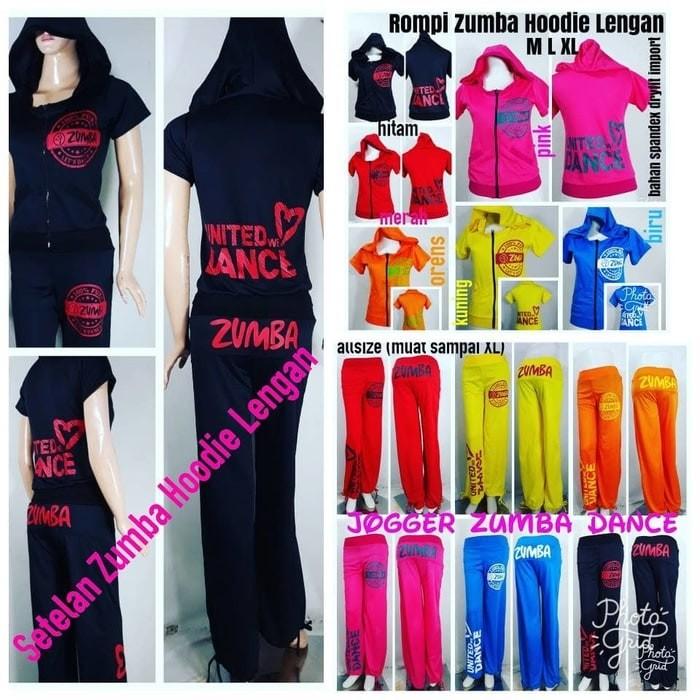 Baju Senam Zumba Rompi Zumba Hoodie Lengan (Hanya rompi/tidak 1 setel