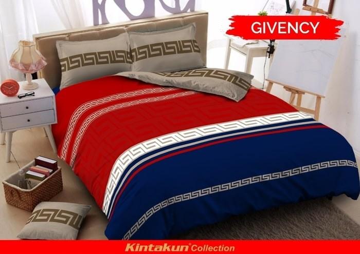 bed cover set Kintakun d'luxe 3D ukuran 160 x 200 Queen motif Givenchy