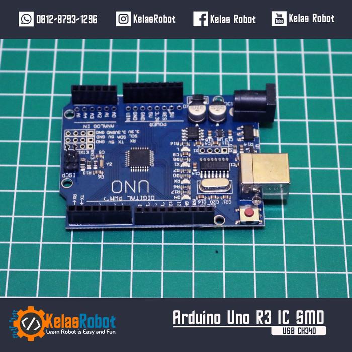 Foto Produk Arduino Uno R3 ATmega328 CH340G Ch340G Chip Downloader dari Kelas Robot