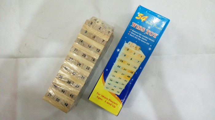 harga Uno stacko wiss toy balok kayu 54 blok4 dadu Tokopedia.com