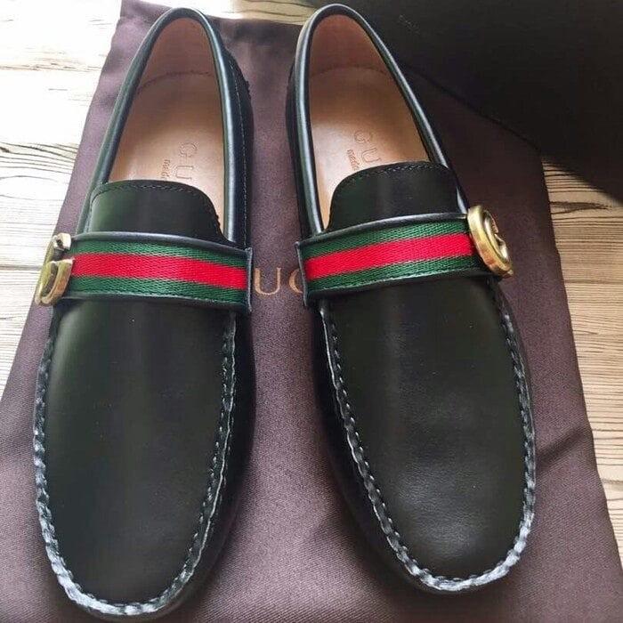 Jual Sepatu Loafers Pria GUCCI Kulit Asli - BATAM STORE17  26b4ae1bc8