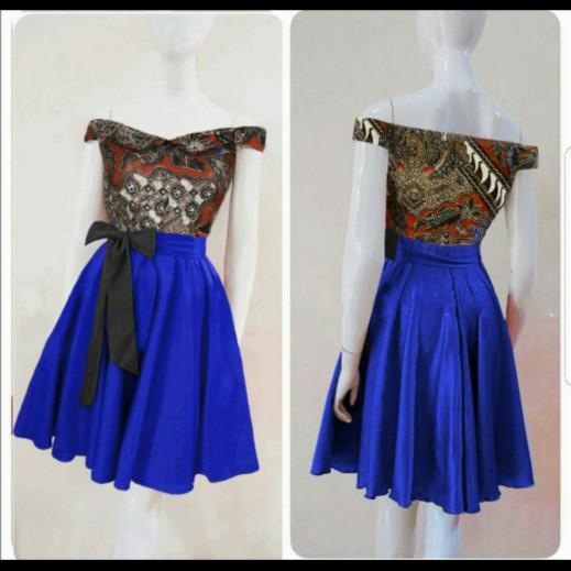 harga Dress midi/mini/gaun batik katun combi twiscone cantik modern etnik Tokopedia.com