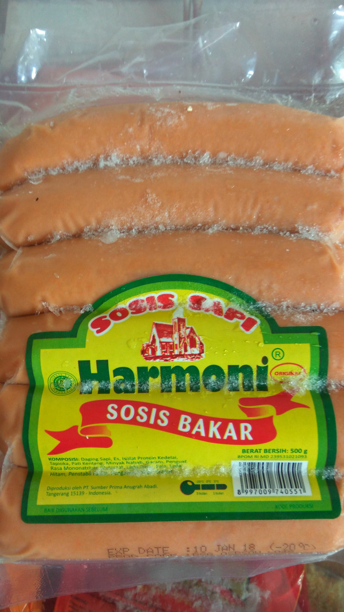 Jual Sosis Bakar Harmoni 6pcs Berat 500gr Shakiafrozenfood Tokopedia Isi 10 500 Gram