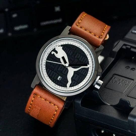 Jam Tangan Puma Tali Kulit Premium Trendy