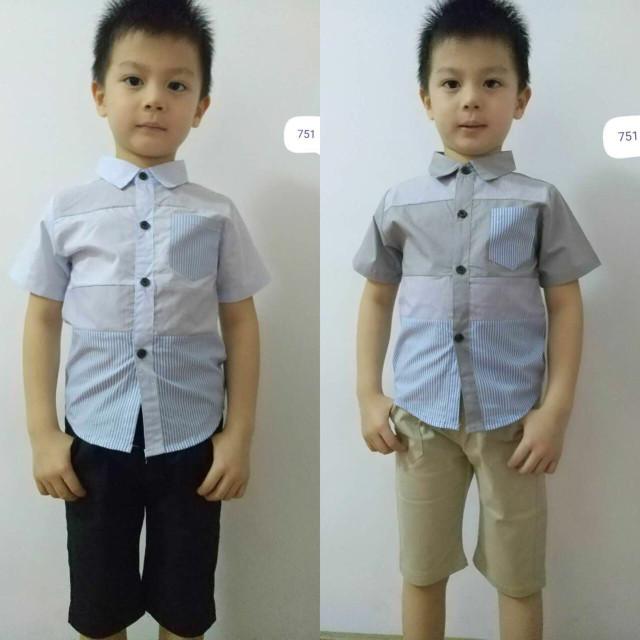 Setelan Baju Anak Laki-laki / Set Baju Anak Import/Setelan Kemeja Anak