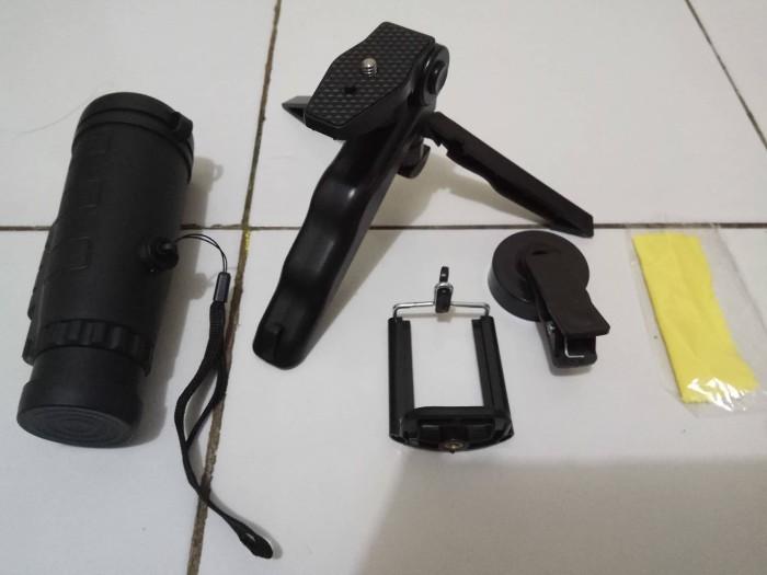 harga Teropong monocullar satu set teropong + adapter hp + tripod mini Tokopedia.com
