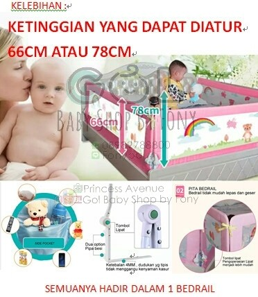 harga 200cmx78cm bed rail/bed guard/pengaman ranjang/pembatas kasur Tokopedia.com