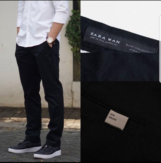 harga Celana bahan formal pria casual zara men Tokopedia.com