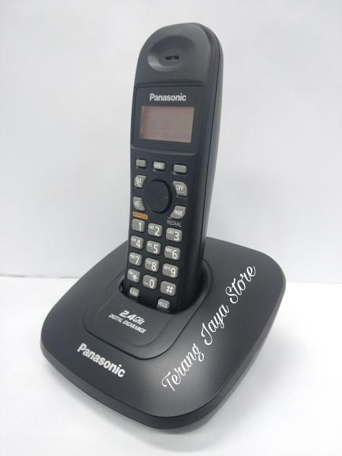 harga Telepon wireless panasonic kx-tg3611 wireless phone 2.4ghz (hitam) Tokopedia.com