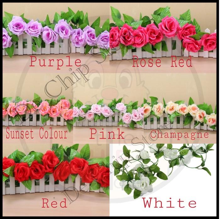 harga Bunga mawar plastik / mawar rambat Tokopedia.com