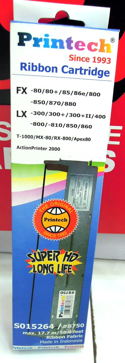 Foto Produk Printech SO15264 #8750 Ribbon Catridge EPSON LX-300 300+II 800 dari faridah market