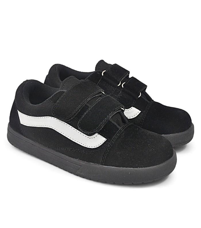 harga Sepatu sekolah anak sd smp - sepatu kets hitam casual sneakers anak c6 Tokopedia.com