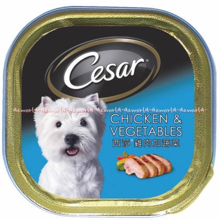 Jual Cesar Dog Food Tender Lamb Makanan Anjing Dog Food Biru 100gr