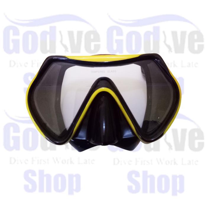 harga Alat selam godive diving snorkeling mask m101-yellow + box Tokopedia.com