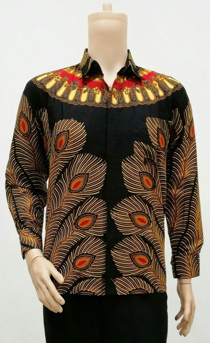 harga Kemeja panjang bulu merak - baju batik solo Tokopedia.com