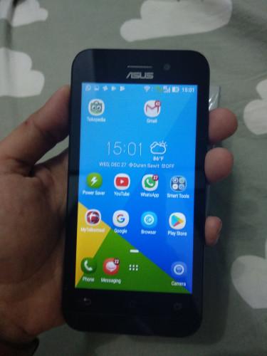 Asus Zenfone Go 3G Zb452kg Black 8gb Ram 1gb Fullset Second Bekas