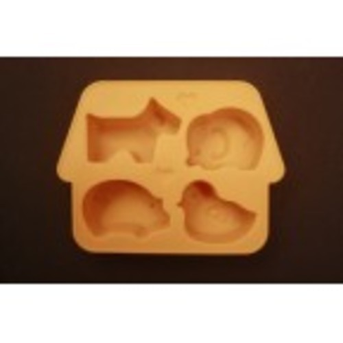 Silicon ice-cube tray (animal) (Kode : CO 10)