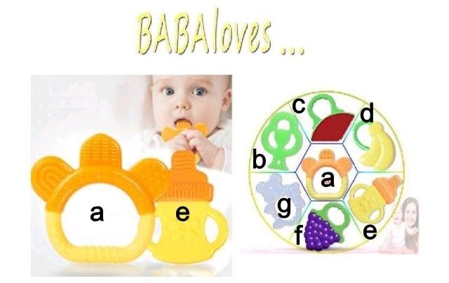 Adorashop teether baby pacifier gigitan bayi fruit banyak motif bpafre