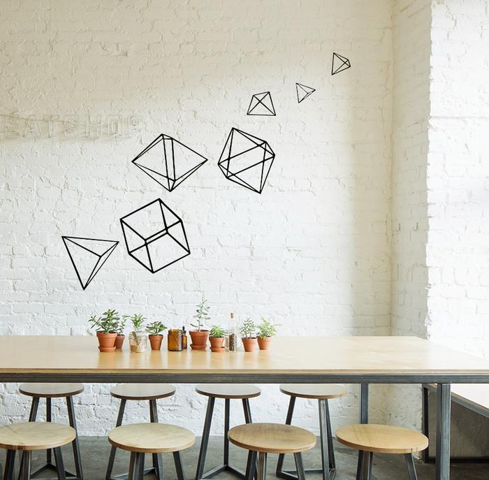 jual wall sticker geometric bangun ruang - kota malang - i wall you