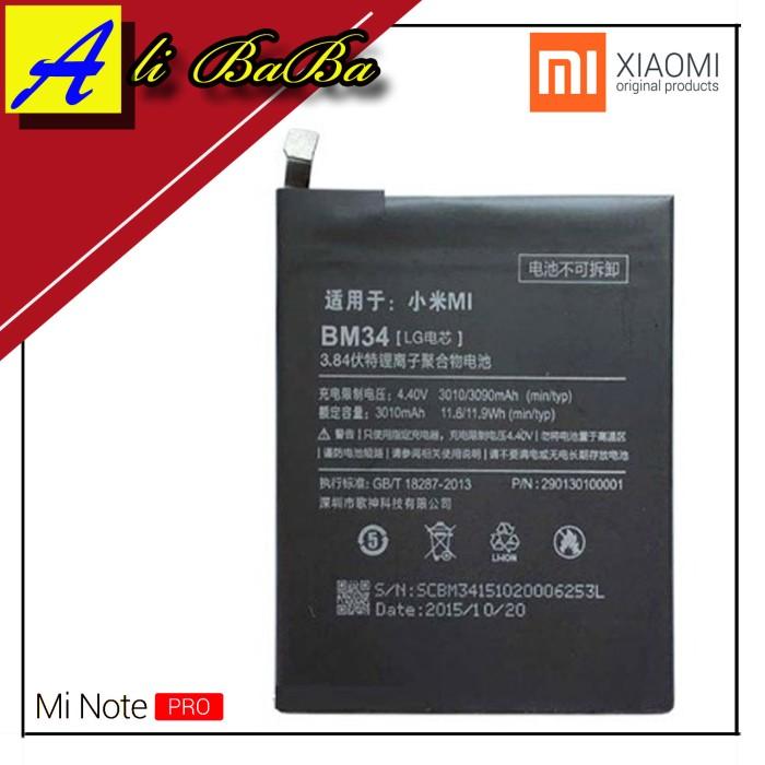 harga Baterai handphone xiaomi mi note pro bm34 batre hp battery xiaomi note Tokopedia.com