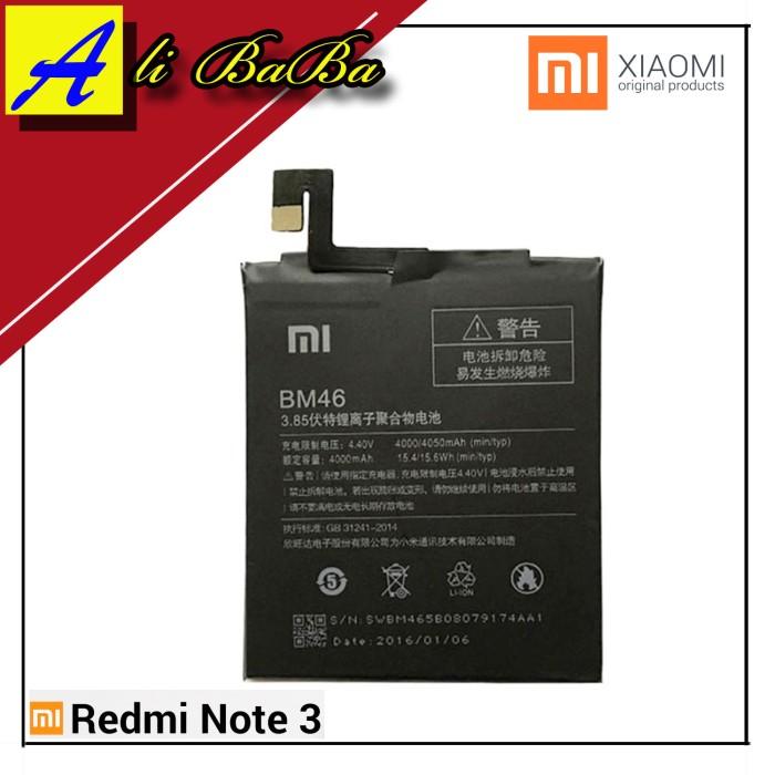 harga Baterai handphone xiaomi redmi note 3 redmi note 3 pro bm46 batre hp Tokopedia.com
