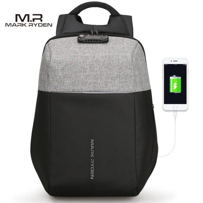Foto Produk Tas USB Backpack Futuristic Mark Ryden MR6768 with TSA LOCK dari Motochiefdotnet