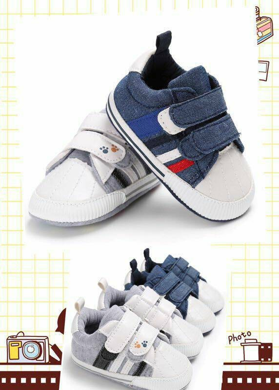 harga Sepatu bayi / prewalker shoes - denim stripe Tokopedia.com