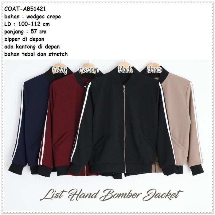 Jual Jacket Jaket Bomber List Garis Sporty Gym Coat Wanita Korea ... 67babbb680