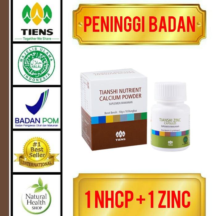 harga Paket peninggi badan herbal 10 hari/nhcp+zinc/tiens alami best seller Tokopedia.com