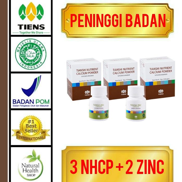 harga Paket peninggi badan herbal 30 hari/nhcp+zinc/tambah tinggi alami Tokopedia.com